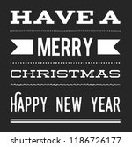 christmas vector quote. holly... | Shutterstock .eps vector #1186726177