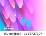 holographic geometry background.... | Shutterstock .eps vector #1186727107