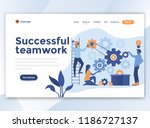 landing page template of... | Shutterstock .eps vector #1186727137