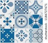 decorative tile pattern design. ... | Shutterstock .eps vector #1186727671