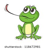 illustration of a frog on a... | Shutterstock . vector #118672981