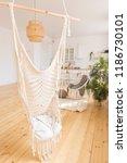 cute cozy light interior design ...   Shutterstock . vector #1186730101