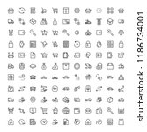 online store flat icon set.... | Shutterstock .eps vector #1186734001