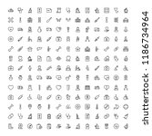 oncology icon set. collection... | Shutterstock .eps vector #1186734964