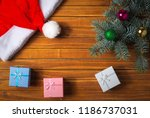 christmas decorations. holiday... | Shutterstock . vector #1186737031