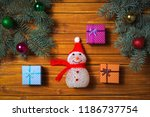 christmas decorations. holiday... | Shutterstock . vector #1186737754