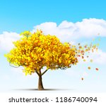 autumn maple tree 3d... | Shutterstock . vector #1186740094
