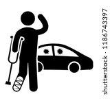 an injured passenger on a road... | Shutterstock .eps vector #1186743397