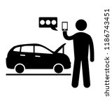 a person is asking for roadside ... | Shutterstock .eps vector #1186743451