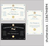 certificate or diploma retro... | Shutterstock .eps vector #1186744894