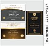 certificate or diploma retro... | Shutterstock .eps vector #1186744897