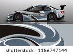 car decal graphic vector racing ... | Shutterstock .eps vector #1186747144
