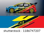 car decal graphic vector racing ... | Shutterstock .eps vector #1186747207