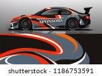 car wrap design vector  truck... | Shutterstock .eps vector #1186753591