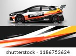 car wrap design vector  truck... | Shutterstock .eps vector #1186753624