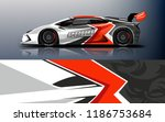 car wrap design vector  truck... | Shutterstock .eps vector #1186753684