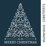 christmas card with abstract... | Shutterstock .eps vector #1186755571