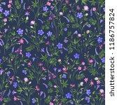 seamlrss floral pattern  meadow ... | Shutterstock .eps vector #1186757824