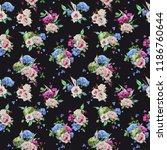 seamless floral pattern with... | Shutterstock .eps vector #1186760644