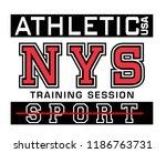 athletic sport for t shirt  | Shutterstock .eps vector #1186763731