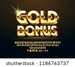 vector glossy sign gold bonus.... | Shutterstock .eps vector #1186763737