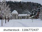 rudolf pramen colonnade in... | Shutterstock . vector #1186772437