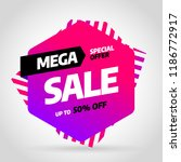 sale banner template design ... | Shutterstock .eps vector #1186772917