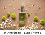 composition with bottle of...   Shutterstock . vector #1186774951