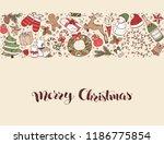 hand drawn merry christmas... | Shutterstock .eps vector #1186775854