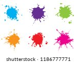 vector colorful paint splatter... | Shutterstock .eps vector #1186777771