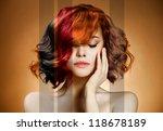 beauty portrait. concept... | Shutterstock . vector #118678189