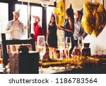 buffet dinner dining food... | Shutterstock . vector #1186783564