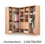 clothe in wardrobe isolated 3d... | Shutterstock . vector #1186786384