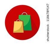 vector shopping two bag icon.... | Shutterstock .eps vector #1186789147