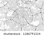 monochrome city map with road... | Shutterstock . vector #1186791214
