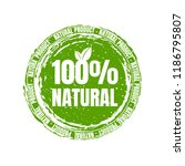 natural product stamp | Shutterstock . vector #1186795807