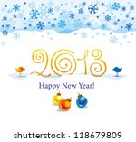 christmas and new year greeting ... | Shutterstock .eps vector #118679809