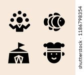 clown icon set. juggler clown... | Shutterstock .eps vector #1186798354