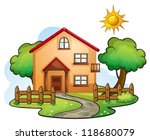illustration of a house in a...