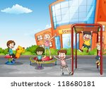 illustration of kids playing... | Shutterstock .eps vector #118680181