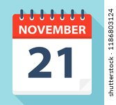 november 21   calendar icon  ... | Shutterstock .eps vector #1186803124