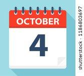 october 4   calendar icon  ... | Shutterstock .eps vector #1186803697