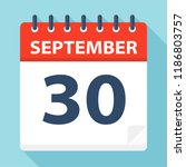 september 30   calendar icon  ... | Shutterstock .eps vector #1186803757