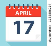 april 17   calendar icon  ... | Shutterstock .eps vector #1186806214