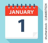 january 1   calendar icon  ... | Shutterstock .eps vector #1186807024