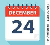 december 24   calendar icon  ... | Shutterstock .eps vector #1186807057