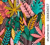 bright tropical leaf seamless... | Shutterstock .eps vector #1186826017