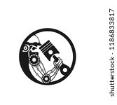 robot logo design vector...   Shutterstock .eps vector #1186833817