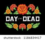 day of the dead background... | Shutterstock .eps vector #1186834417