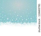 fall snowflake snow stars blue... | Shutterstock .eps vector #118683781